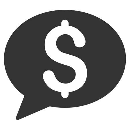 voice mail: Bank Message vector icon. Style is flat symbol, gray color, rounded angles, white background.