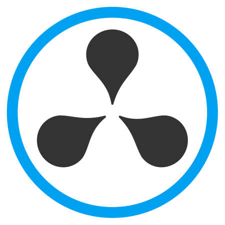 polyclinic: Map Markers vector icon. Style is bicolor flat circled symbol, blue and gray colors, rounded angles, white background.