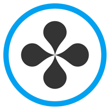 polyclinic: Map Pointers vector icon. Style is bicolor flat circled symbol, blue and gray colors, rounded angles, white background.