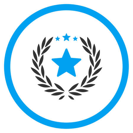 cognizance: Proud vector icon. Style is bicolor flat symbol, blue and gray colors, rounded angles, white background.