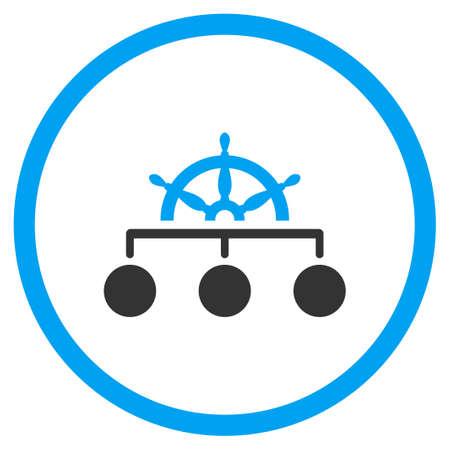 Regel vector icon. Stijl is bicolor vlak omcirkeld symbool, blauwe en grijze kleuren, afgeronde hoeken, een witte achtergrond.