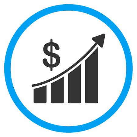 sales bar chart glyph icon style is bicolor flat circled symbol rh 123rf com
