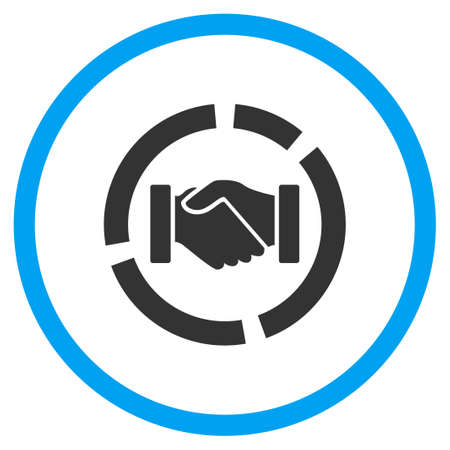 selected: Acquisition Diagram vector icon. Style is bicolor flat circled symbol, blue and gray colors, rounded angles, white background. Illustration