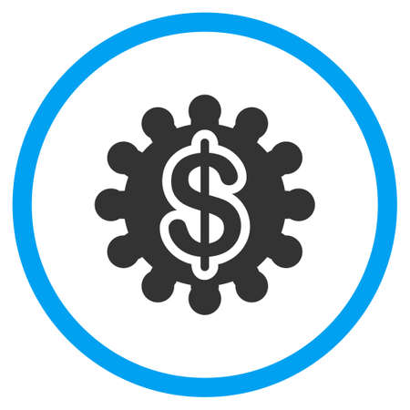 selected: Payment Options vector icon. Style is bicolor flat circled symbol, blue and gray colors, rounded angles, white background.