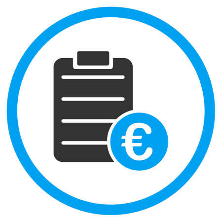 Euro Pad vector icon. Style is bicolor flat circled symbol, blue and gray colors, rounded angles, white background. Illustration
