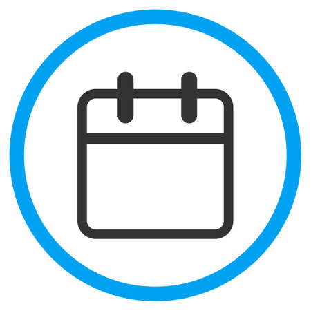 syllabus: Syllabus Leaf glyph icon. Style is bicolor flat circled symbol, blue and gray colors, rounded angles, white background.