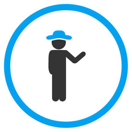 selected: Talking Human vector icon. Style is bicolor flat circled symbol, blue and gray colors, rounded angles, white background.