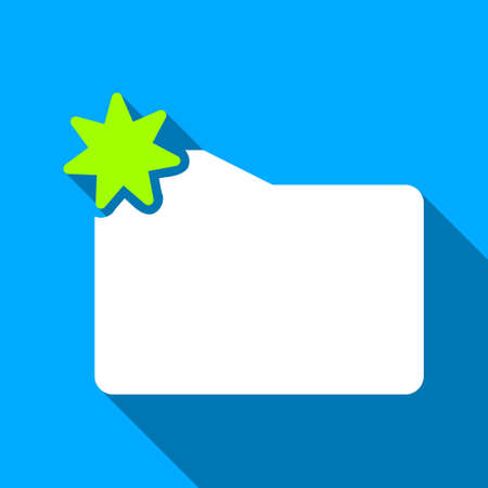 folder icon: New Folder long shadow raster icon. Style is a flat light symbol with rounded angles on a blue square background.