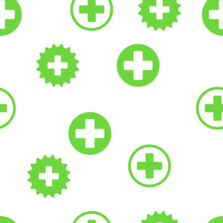 medical cross: Medical Cross Seamless vector repeatable pattern. Style is flat symbols on a white background. Illustration