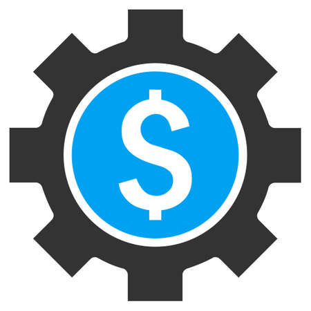 Financial Options vector icon. Style is bicolor flat symbol, blue and gray colors, white background.