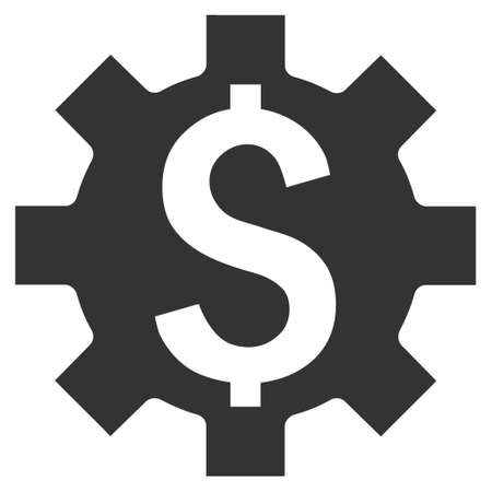 adjustment: Dollar Options vector icon. Style is flat symbol, gray color, white background.