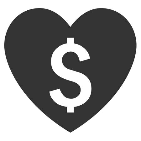 prostitution: Paid Love vector icon. Style is flat symbol, gray color, white background.