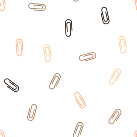 paperclip: Paperclip Seamless repeatable pattern. Style is flat vector symbols on a white background.