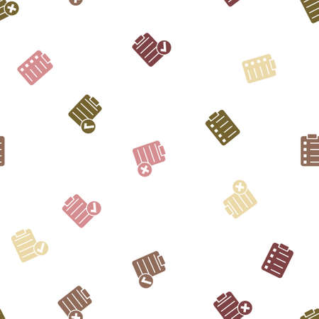 numerate: Items List Seamless repeatable pattern. Style is flat vector symbols on a white background.