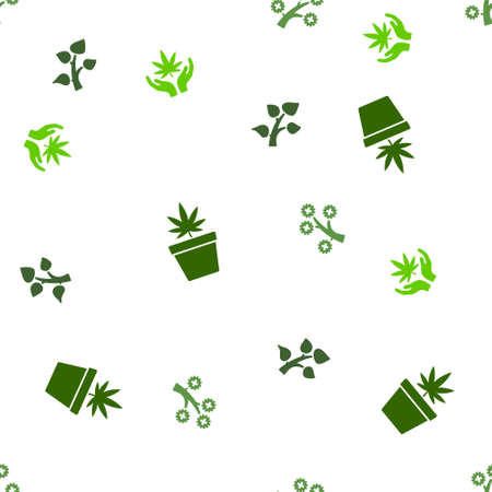 medical plant: Medical Plant Seamless repeatable pattern. Style is flat glyph symbols on a white background.