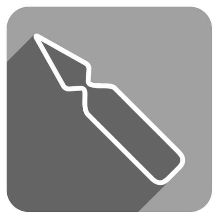 ampoule: Empty Ampoule long shadow vector icon. Style is a flat empty ampoule iconic symbol on a gray square background. Illustration