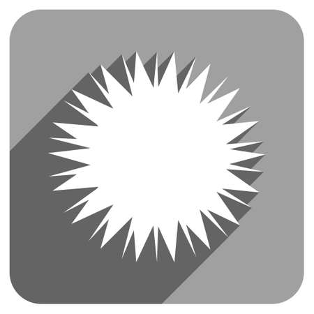 spore: Microbe Spore long shadow vector icon. Style is a flat microbe spore iconic symbol on a gray square background.