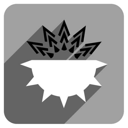 idler: Viral Structure long shadow vector icon. Style is a flat viral structure iconic symbol on a gray square background.