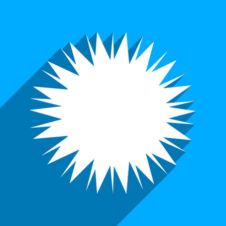 idler: Microbe Spore long shadow vector icon. Style is a flat microbe spore iconic symbol on a blue square background.