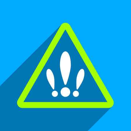 multiple: Multiple Problems long shadow vector icon. Style is a flat multiple problems iconic symbol on a blue square background.