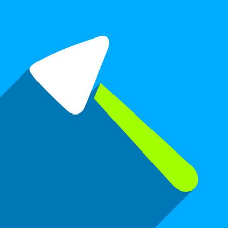 neurologist: Neurologist Hammer long shadow vector icon. Style is a flat neurologist hammer iconic symbol on a blue square background.