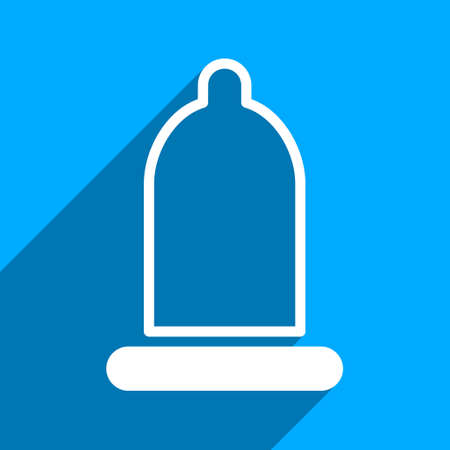preservative: Preservative long shadow vector icon. Style is a flat preservative iconic symbol on a blue square background. Illustration