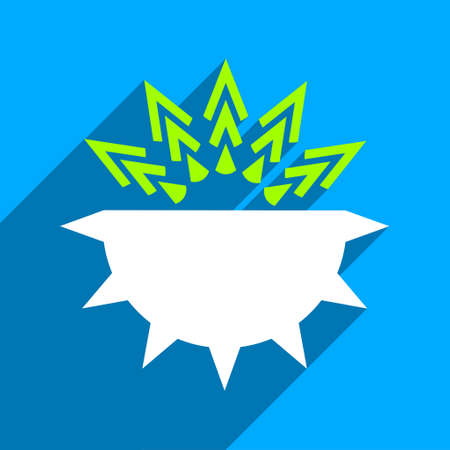 spore: Viral Structure long shadow vector icon. Style is a flat viral structure iconic symbol on a blue square background.