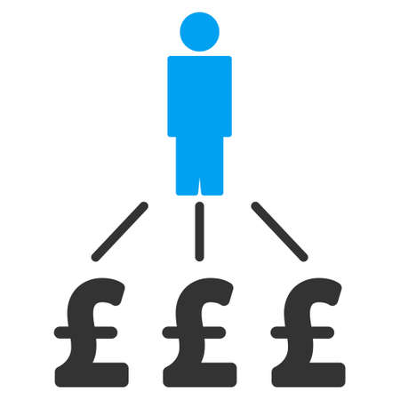 expenses: Person Pound Expenses vector icon. Person Pound Expenses icon symbol. Person Pound Expenses icon image. Person Pound Expenses icon picture. Person Pound Expenses pictogram.