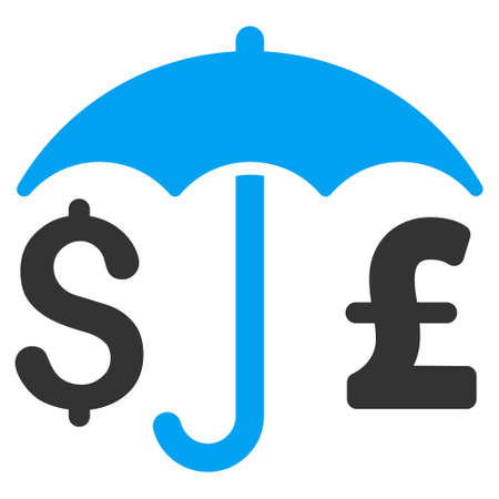 financial protection: Pound and Dollar Financial Protection vector icon. Pound And Dollar Financial Protection icon symbol. Pound And Dollar Financial Protection icon image. Illustration