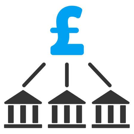 association: Pound Bank Association vector icon. Pound Bank Association icon symbol. Pound Bank Association icon image. Pound Bank Association icon picture. Pound Bank Association pictogram.