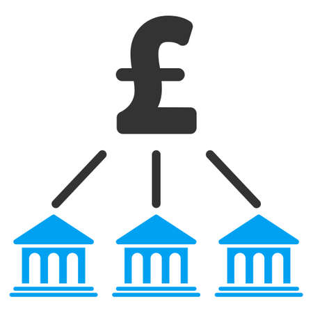 organization: Pound Bank Organization vector icon. Pound Bank Organization icon symbol. Pound Bank Organization icon image. Pound Bank Organization icon picture. Pound Bank Organization pictogram.