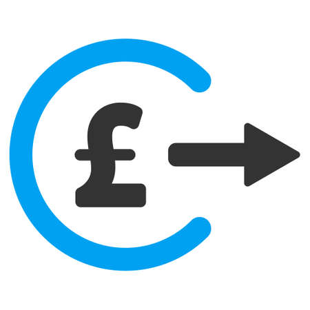 out of order: Pound Cash Out vector icon. Pound Cash Out icon symbol. Pound Cash Out icon image. Pound Cash Out icon picture. Pound Cash Out pictogram. Flat pound cash out icon. Illustration