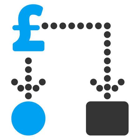 cashflow: Pound Cashflow vector icon. Pound Cashflow icon symbol. Pound Cashflow icon image. Pound Cashflow icon picture. Pound Cashflow pictogram. Flat pound cashflow icon. Illustration