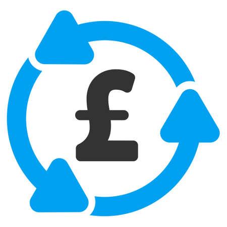 circulation: Pound Circulation vector icon. Pound Circulation icon symbol. Pound Circulation icon image. Pound Circulation icon picture. Pound Circulation pictogram. Flat pound circulation icon.