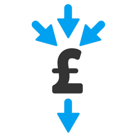 Pound Combine Payments vector icon. Pound Combine Payments icon symbol. Pound Combine Payments icon image. Pound Combine Payments icon picture. Pound Combine Payments pictogram. Illustration