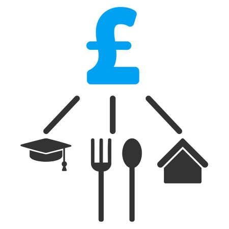consumption: Pound Consumption Pattern vector icon. Pound Consumption Pattern icon symbol. Pound Consumption Pattern icon image. Pound Consumption Pattern icon picture. Pound Consumption Pattern pictogram.
