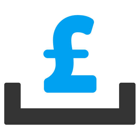 placement: Pound Deposit Placement vector icon. Pound Deposit Placement icon symbol. Pound Deposit Placement icon image. Pound Deposit Placement icon picture. Pound Deposit Placement pictogram.