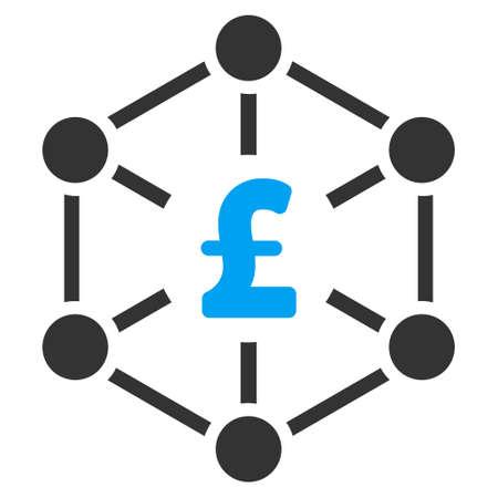 bank branch: Pound Finance Network vector icon. Pound Finance Network icon symbol. Pound Finance Network icon image. Pound Finance Network icon picture. Pound Finance Network pictogram.