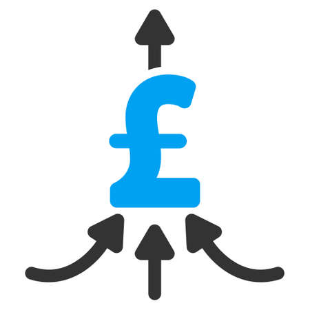 takings: Pound Financial Aggregator vector icon. Pound Financial Aggregator icon symbol. Pound Financial Aggregator icon image. Pound Financial Aggregator icon picture. Pound Financial Aggregator pictogram.