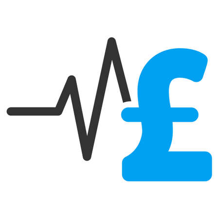 heart ecg trace: Pound Financial Pulse vector icon. Pound Financial Pulse icon symbol. Pound Financial Pulse icon image. Pound Financial Pulse icon picture. Pound Financial Pulse pictogram.