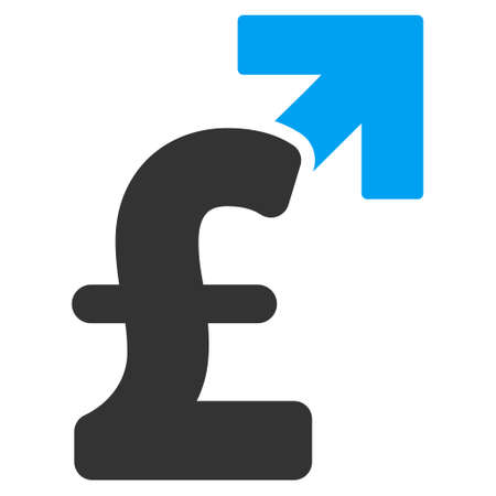 sterling: Pound Growth vector icon. Pound Growth icon symbol. Pound Growth icon image. Pound Growth icon picture. Pound Growth pictogram. Flat pound growth icon. Isolated pound growth icon graphic. Illustration