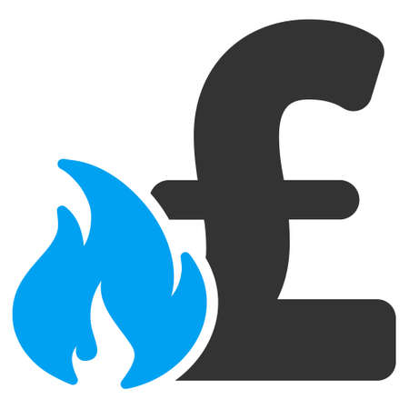 explosion risk: Pound Financial Fire vector icon. Pound Financial Fire icon symbol. Pound Financial Fire icon image. Pound Financial Fire icon picture. Pound Financial Fire pictogram. Flat pound financial fire icon.