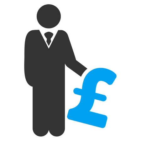 investor: Pound Investor vector icon. Pound Investor icon symbol. Pound Investor icon image. Pound Investor icon picture. Pound Investor pictogram. Flat pound investor icon.