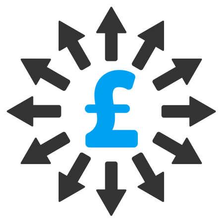 bank branch: Pound Money Distribution vector icon. Pound Money Distribution icon symbol. Pound Money Distribution icon image. Pound Money Distribution icon picture. Pound Money Distribution pictogram.
