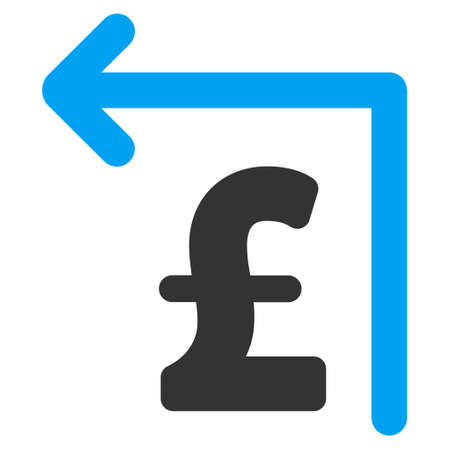moneyback: Pound Moneyback vector icon. Pound Moneyback icon symbol. Pound Moneyback icon image. Pound Moneyback icon picture. Pound Moneyback pictogram. Flat pound moneyback icon.