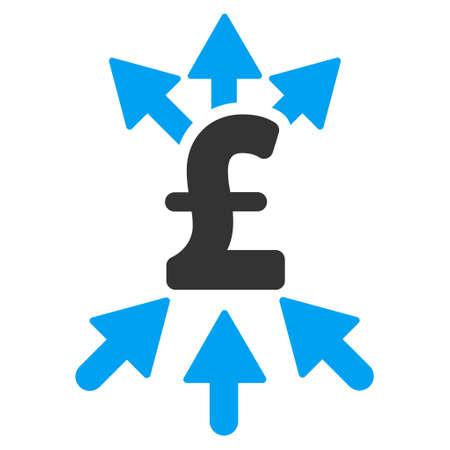 broker: Pound Payment Broker vector icon. Pound Payment Broker icon symbol. Pound Payment Broker icon image. Pound Payment Broker icon picture. Pound Payment Broker pictogram. Flat pound payment broker icon.