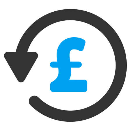 moneyback: Pound Rebate vector icon. Pound Rebate icon symbol. Pound Rebate icon image. Pound Rebate icon picture. Pound Rebate pictogram. Flat pound rebate icon. Isolated pound rebate icon graphic. Illustration