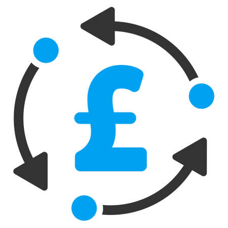 financial cycle: Pound Rotation vector icon. Pound Rotation icon symbol. Pound Rotation icon image. Pound Rotation icon picture. Pound Rotation pictogram. Flat pound rotation icon. Illustration