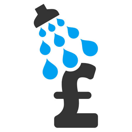 laundering: Pound Shower vector icon. Pound Shower icon symbol. Pound Shower icon image. Pound Shower icon picture. Pound Shower pictogram. Flat pound shower icon. Isolated pound shower icon graphic. Illustration