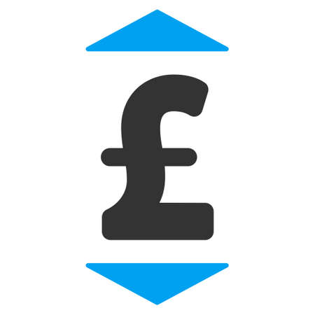 lower value: Pound Up Down vector icon. Pound Up Down icon symbol. Pound Up Down icon image. Pound Up Down icon picture. Pound Up Down pictogram. Flat pound up down icon. Isolated pound up down icon graphic. Illustration